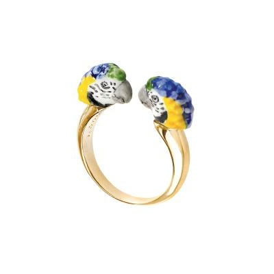 "Bague FaceToFace Perroquet Bleu ""CANCÚN"" BB67 NACH"