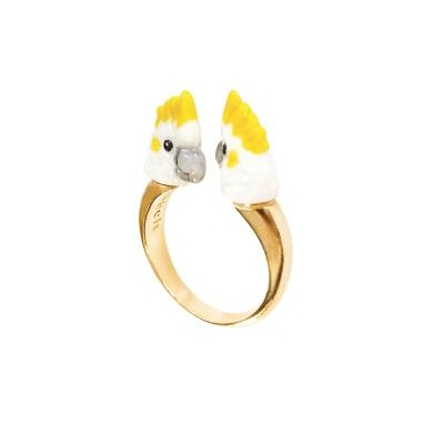 "Bague FaceToFace Cacatoès Blanc ""CANTANDO"" BB68 NACH"