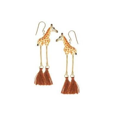 "Boucles d'oreilles Girafe avec pompon ""GÍGÍ"" NACH"