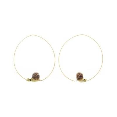 Boucles d'oreilles petites créoles Escargot - NACH