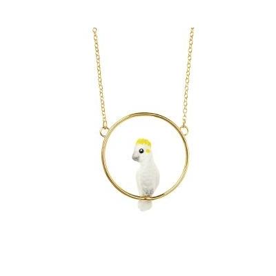 "Mini collier rond Cacatoés Blanc ""CANTANDO"" - NACH"
