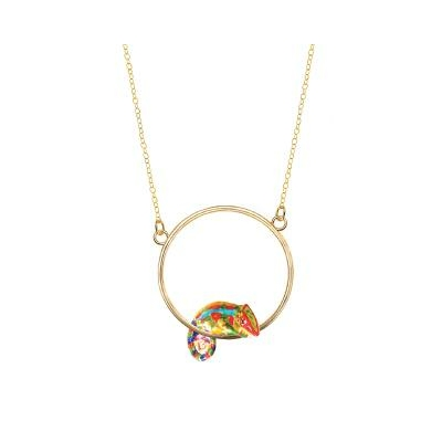 """Mini collier rond Caméléon Coloré """"VALLADOLID"""" - NACH"""