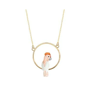 "Mini collier rond Cacatoés Rose ""CELESTÚN"" - NACH"