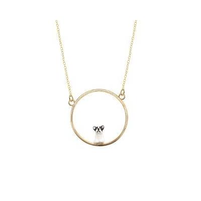 "Mini collier rond Bouledogue Français ""BUBÙ"" - NACH"