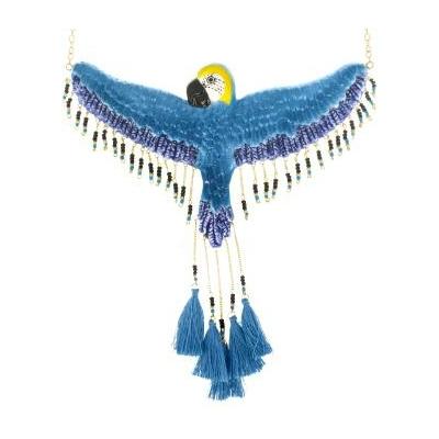 Collier Perroquet Bleu volant - NACH