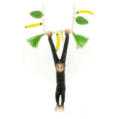 Collier Singe jouant avec des Bananes - NACH