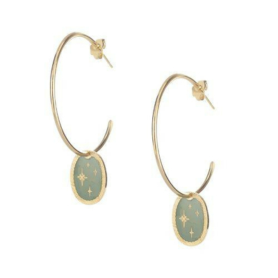 Boucles d'oreilles Créoles ETINCELLE collection ANTIQUE - LOVELY DAY