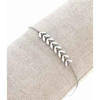 Bracelet épi de blé blanc argent acier inoxydable - Mile Mila
