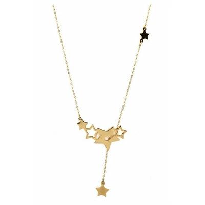 Collier 6 étoiles doré acier inoxydable - Mile Mila