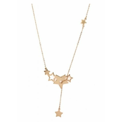 Collier 6 étoiles or rose acier inoxydable - Mile Mila