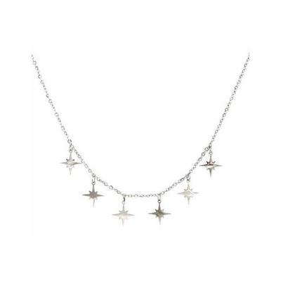 Collier multi étoiles filantes argent acier inoxydable Mile Mila