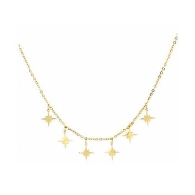 Collier multi étoiles filantes doré acier inoxydable Mile Mila