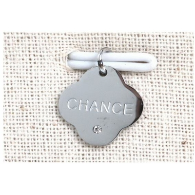 Pendentif chance strass argent acier inoxydable - Mile Mila