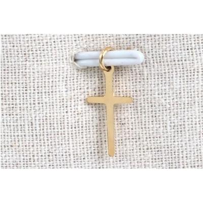 Pendentif croix doré acier inoxydable - Mile Mila