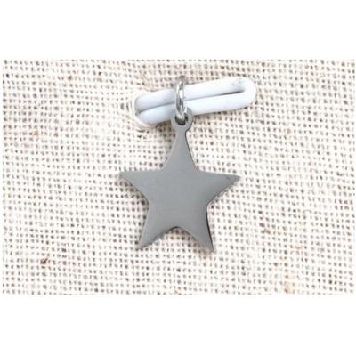 Pendentif étoile argent acier inoxydable - Mile Mila