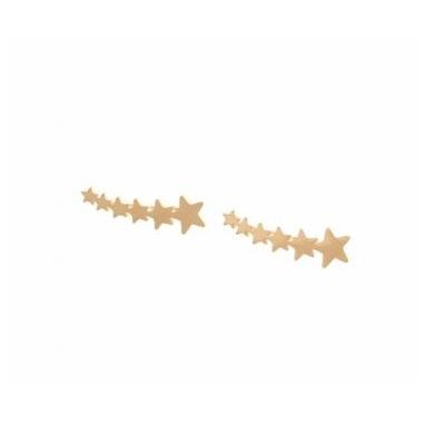 Boucles d'oreilles grimpantes multi étoiles doré acier inoxydable - Mile Mila