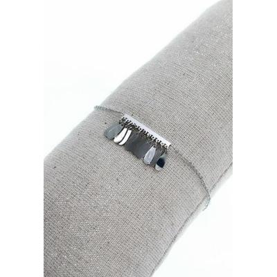 Bracelet franges argent acier inoxydable - Mile Mila