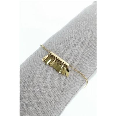 Bracelet franges doré acier inoxydable - Mile Mila