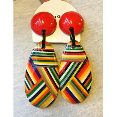 Boucles d'oreilles clips goutte pelote résine Marion Godart