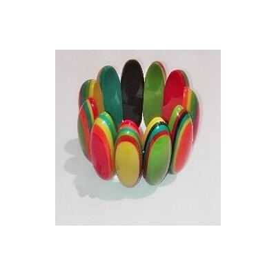 Bracelet élastiqué multi-couleurs résine modèle 2 Marion Godart