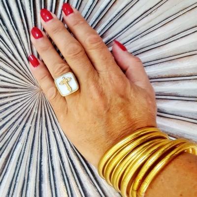 Bracelet FIN Ø6 jonc temple tibétain bouddhiste poudre d'or et huile dans tube scellé – La Belle Simone Bijoux