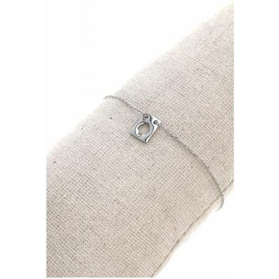 Bracelet rectangle pique acier inoxydable argent - Mile Mila
