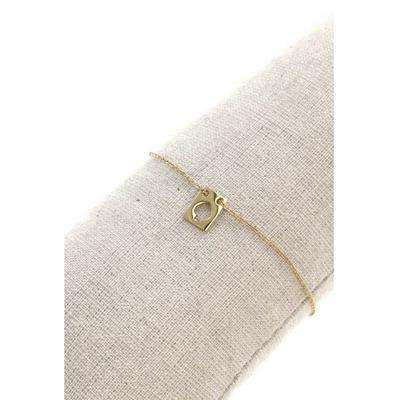 Bracelet rectangle pique acier inoxydable doré - Mile Mila