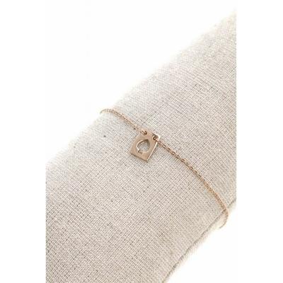 Bracelet rectangle pique acier inoxydable or rose - Mile Mila