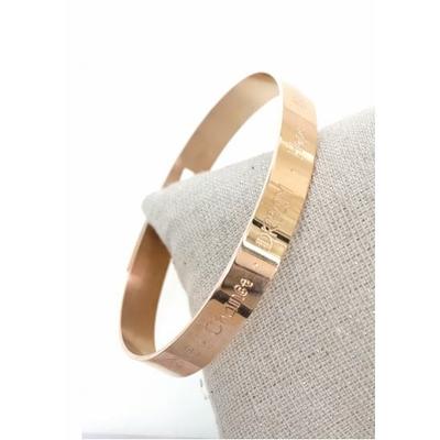 Bracelet jonc love, chance, dream, hope, acier inoxydable or rose - Mile Mila