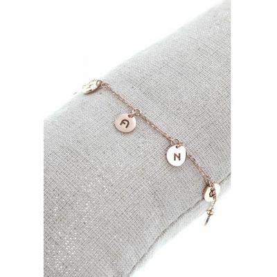 Bracelet pampilles chance acier inoxydable or rose - Mile Mila