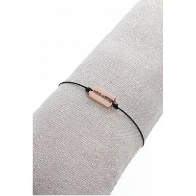 Bracelet lame or rose acier inoxydable - Mile Mila