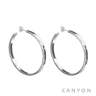 Boucles d'oreilles créoles section plate Ø5cm - Canyon