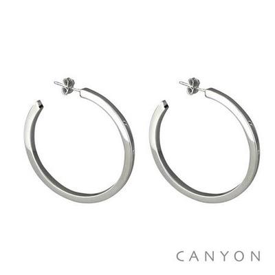 Boucles d'oreilles créoles Section Carré moyen modèle - Canyon