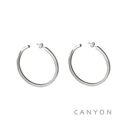 Boucles d'oreilles créoles Section Carré grand modèle - Canyon