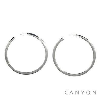 Boucles d'oreilles créoles Rondes Plates - Canyon