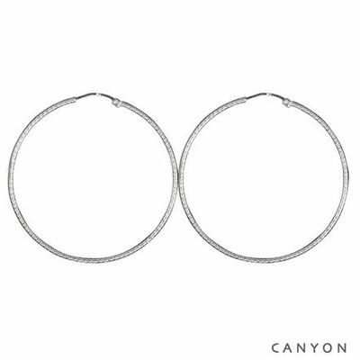 Boucles d'oreilles créoles Fine Diamantée Ø5cm - Canyon