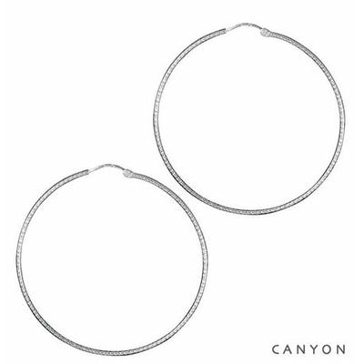 Boucles d'oreilles créoles Fine Diamantée Ø6cm - Canyon