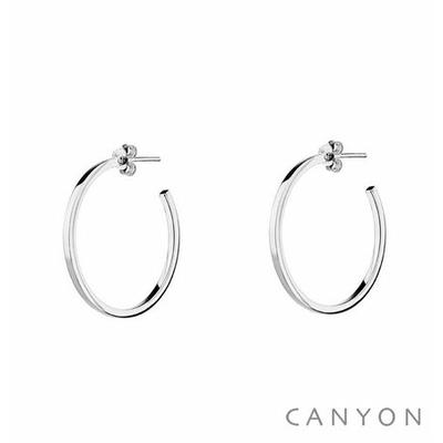 Boucles d'oreilles créoles section carré Ø2.2cm - Canyon