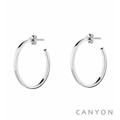 Boucles d'oreilles créoles section carré Ø3cm - Canyon