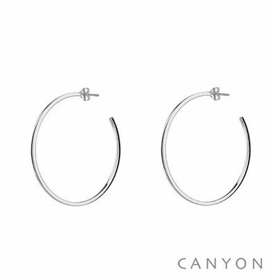 Boucles d'oreilles créoles section carré Ø4cm - Canyon