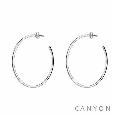 Boucles d'oreilles créoles section carré Ø5cm - Canyon