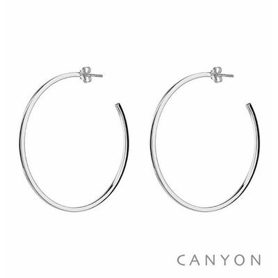Boucles d'oreilles créoles section carré Ø6cm - Canyon