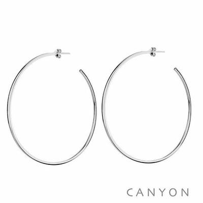 Boucles d'oreilles créoles section carré Ø7cm - Canyon