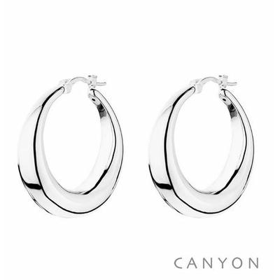 Boucles d'oreilles créoles dodues Ø3cm - Canyon