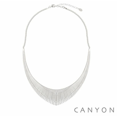 Collier plastron faceté en argent  - Canyon