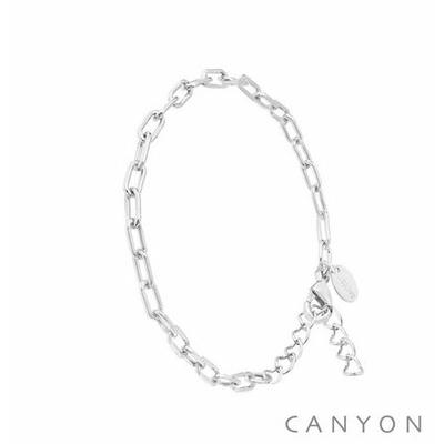 Bracelet en argent chaine forçat espacée ronde - Canyon