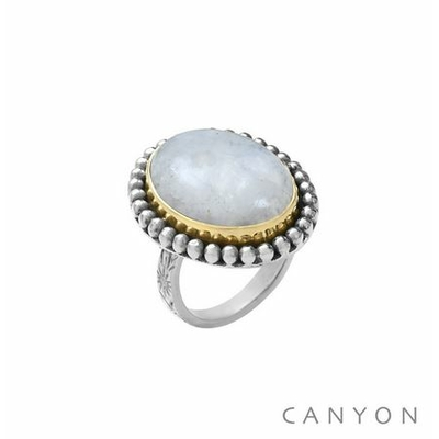 Bague argent grand pierre de lune ovale - Canyon