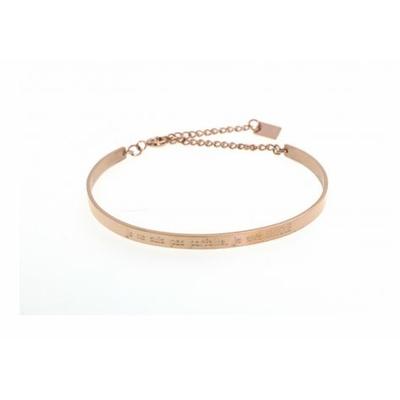 Bracelet jonc je ne suis pas parfaite, je suis UNIQUE acier inoxydable rose - Mile Mila