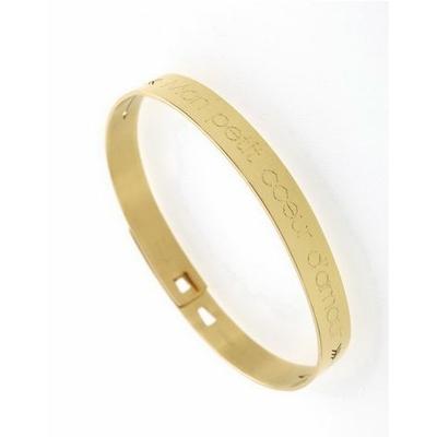 Bracelet jonc MON PETIT COEUR D'AMOUR acier inoxydable doré - Mile Mila