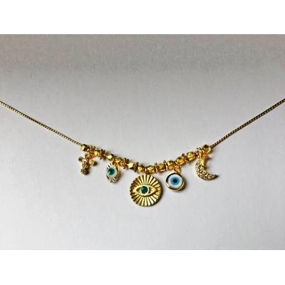Collier grigiris chaine acier modèle 3 - la belle Simone bijoux